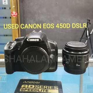 (USED) CANON EOS 450D DSLR CAMERA BODY.