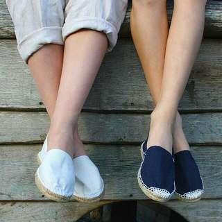 西班牙製 草編鞋 懶人鞋 休閒鞋