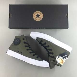 Sepatu Converse All Star Chuck Taylor II High Green Army White