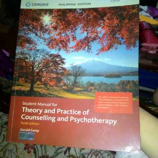 Student Manual for Theory and Practice of Counselling and Psyhotherapy
