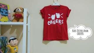 Kaos Distro Anak Cheers~