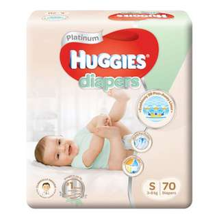 <FREE DOORSTEP DELIVERY> Brand New and Sealed in Carton Boxes - Huggies S-Size Platinum Tape Diapers