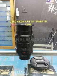 (USED) NIKON AF-S 24-120MM F/3.5-5.6G ED VR LENS.