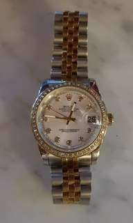 Rolex datejust with diamonds