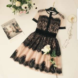 [PO] Eyelash silk dress