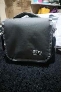 Tas Kamera EOS 2 lensa Biru Gratis Rain Cover