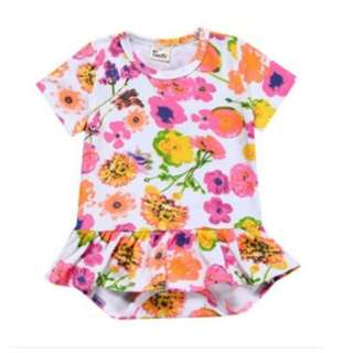 Organic Cotton Bonds Long Sleeve Fashionable Floral Fantasy Abstract Long Sleeve Newborn Baby Toddler Bodysuit Romper