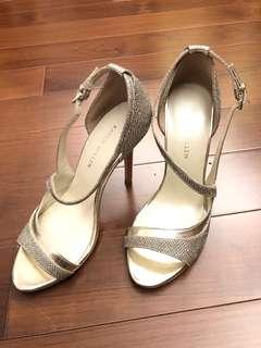 (Size 36) Karen Millen gold glitter sandal heels
