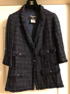 Chanel tweed jacket Sz 42 used