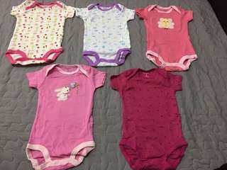 With pos New set 5pcs Girl romper carters