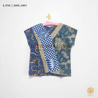 Batik Cotton Top Collection in Grey