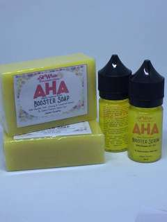 AHA Booster Soap and Booster Serum