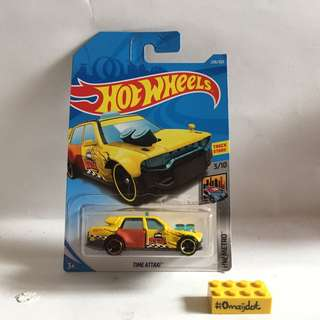 Hot Wheels Time Attaxi Yellow