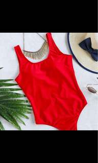 NEW LOW SEXY BACK RED ONE PIECE SWIMSUIT BATHING SUIT