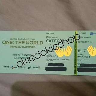 (WTS) WANNA ONE TOUR CONCERT IN KL