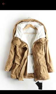 韓國連帽舖棉外套