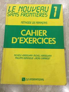 French language Le Nouveau Sans Frontieres Methode De Francais Cahier D'Exercices