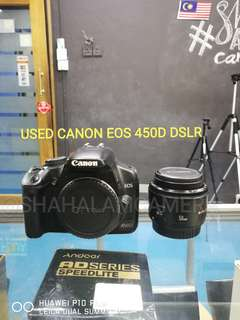 (USED) CANON EOS 450D DSLR CAMERA BODY ONLY