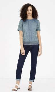 Authentic warehouse blue lace TOP free pos