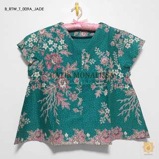 Batik Cotton Top Collection in Jade