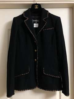 Chanel jacket Sz 40 used black