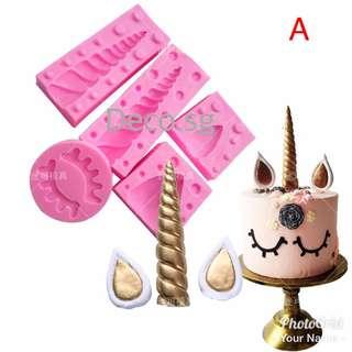 Unicorn cake mold accessories