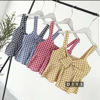 [PO] Plaid bow top