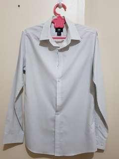 H&M Dress Shirt White Long Sleeves