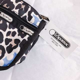 LeSportsac 2 pocket zipper pouch