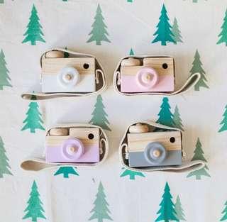 自然傳統實木相機玩具兒童小朋友生日禮物100%New出口外國
