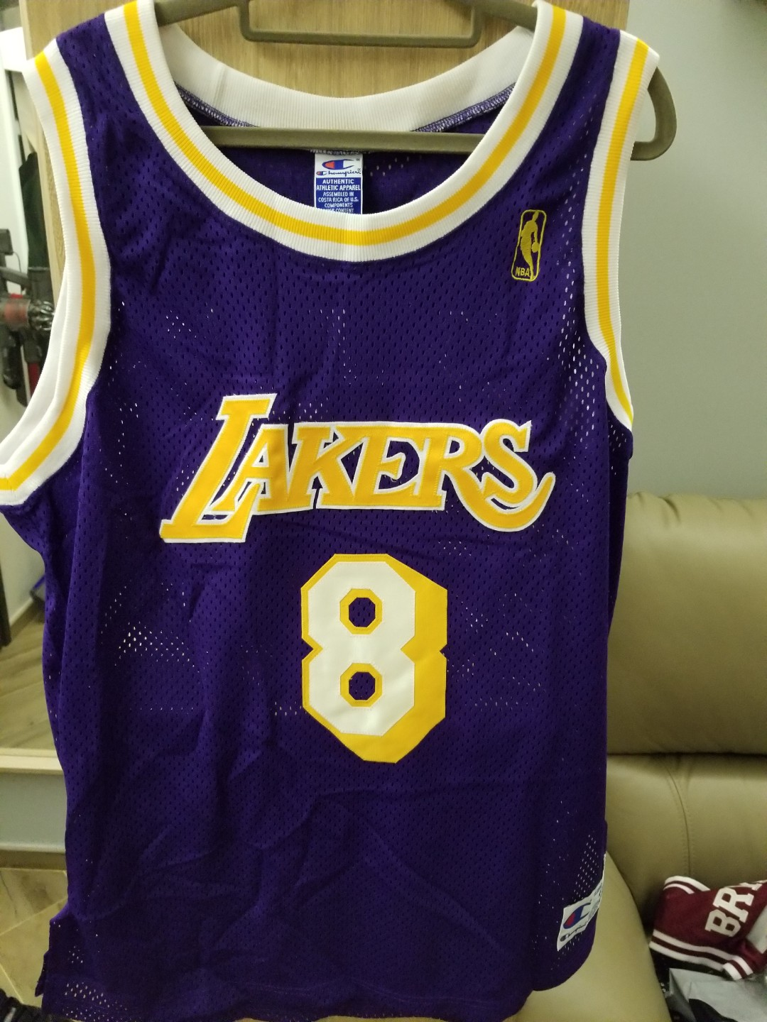 separation shoes 2dfe9 eb7ef 95% new Champion Kobe Bryant authentic jersey size 44