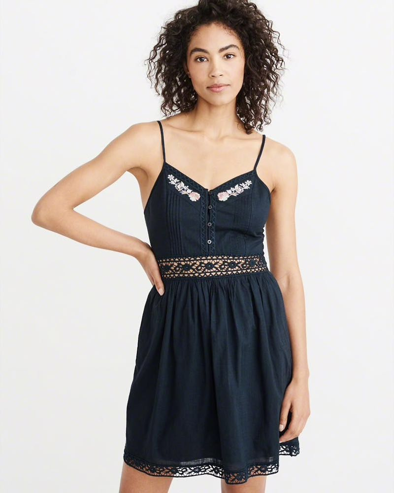 6ce536620f8 Abercrombie Lace Pieced Skater Dress