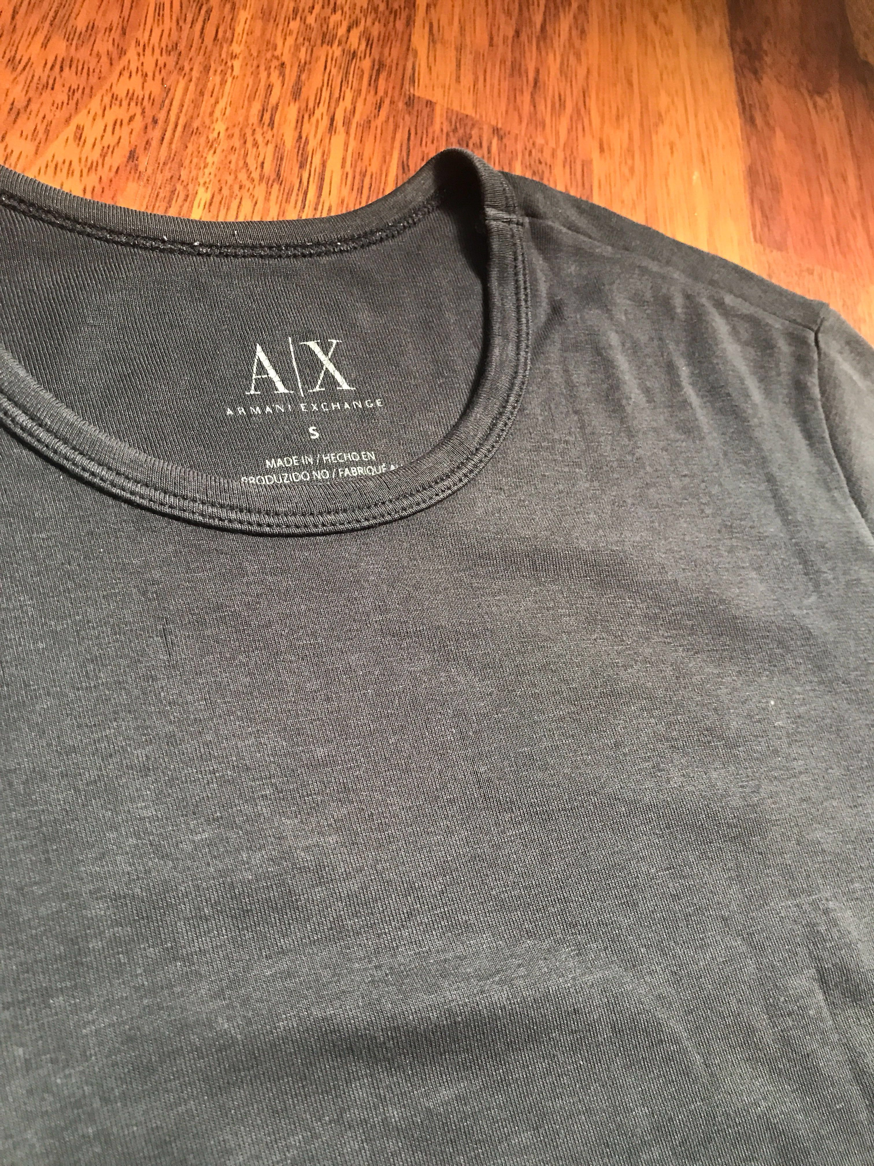 192a6b80 Armani Exchange Black Basic Tee, Men's Fashion, Clothes, Tops on ...