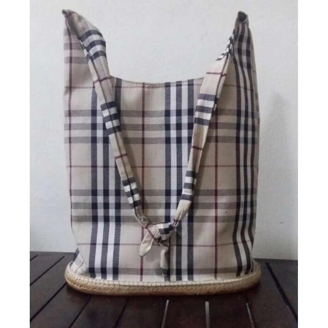 ab3b3608222 Authentic Burberry Nova Check Bucket Bag, Luxury, Bags & Wallets ...