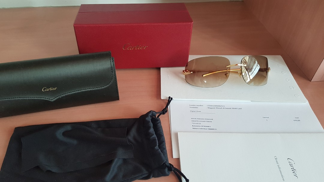 6af7d992a1ad2 Authentic Cartier Panthere Sunglasses- Gold finish with Brown lenses ...