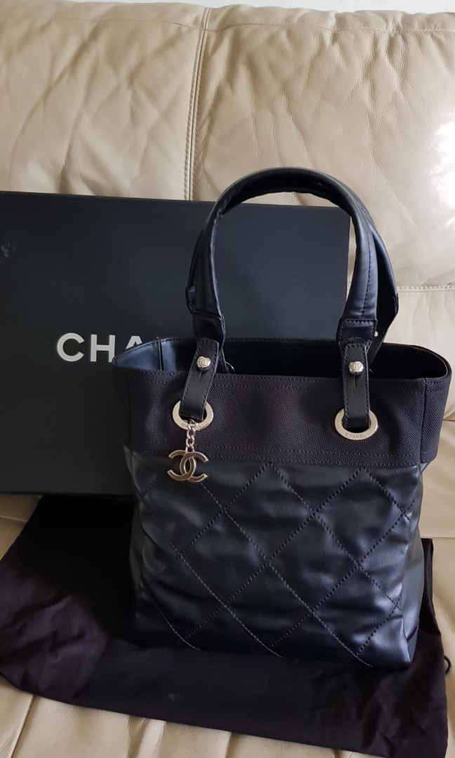 cbb89704b0979f AUTHENTIC CHANEL PARIS BIARRITZ SMALL TOTE IN BLACK, Luxury, Bags ...