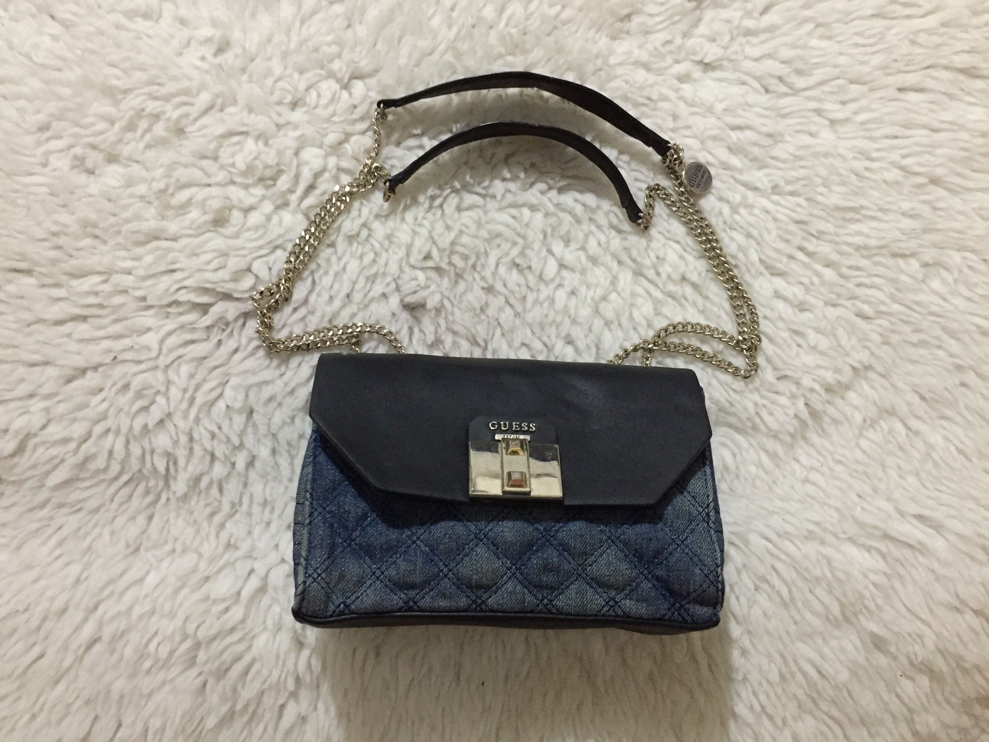 Authentic Guess Rebel Roma Denim Mini Flap Crossbody bag, Women s ... da866c40a06