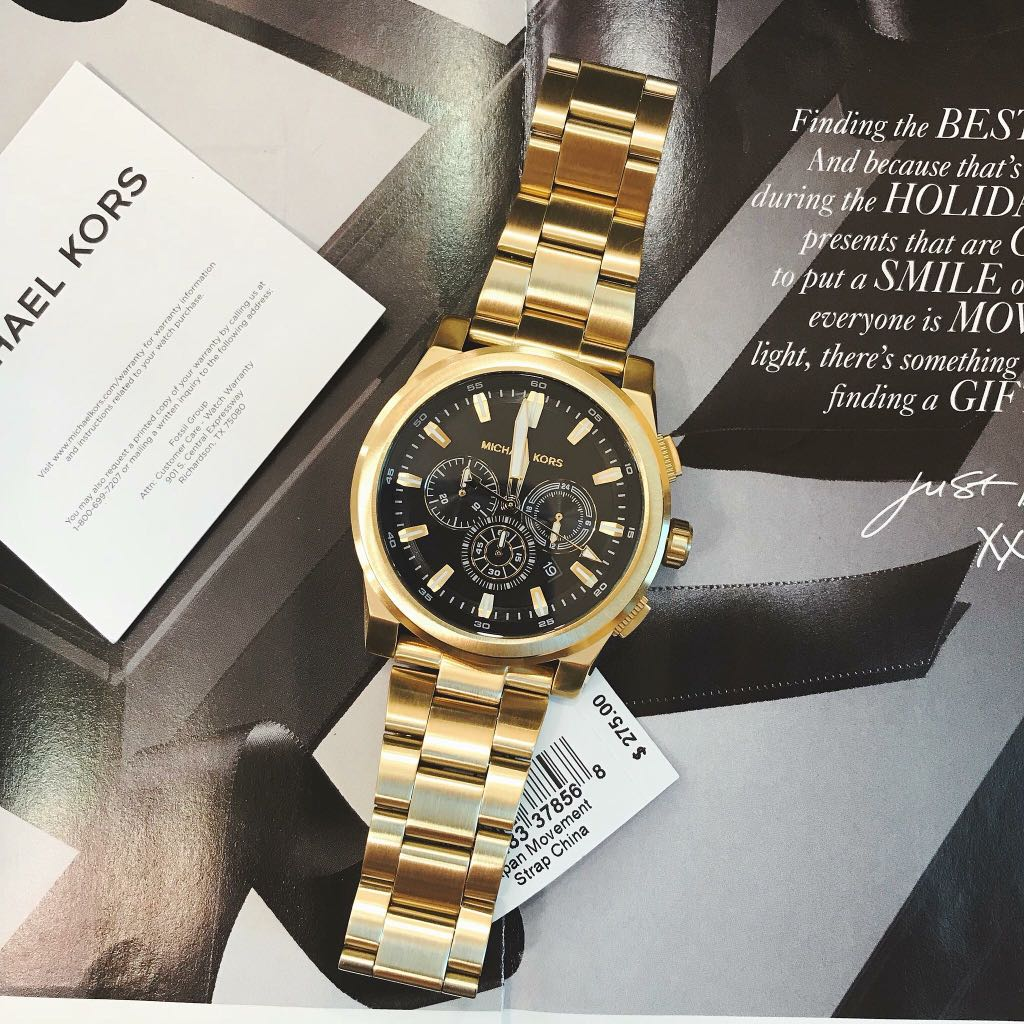 Authentic Michael Kors Watch Mk8599 Michael Kors Grayson Gold