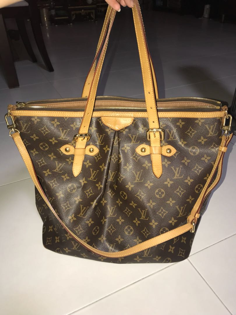 AUTHENTIC PRE-OWNED LOUIS VUITTON MONOGRAM PALERMO GM BAG M40146 ... 6039898f1