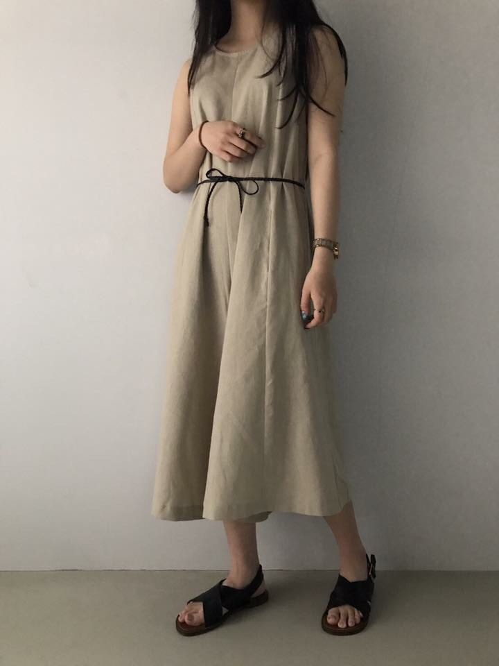 Brand New Made In Korea Linen One Piece Jumpsuit Freesize