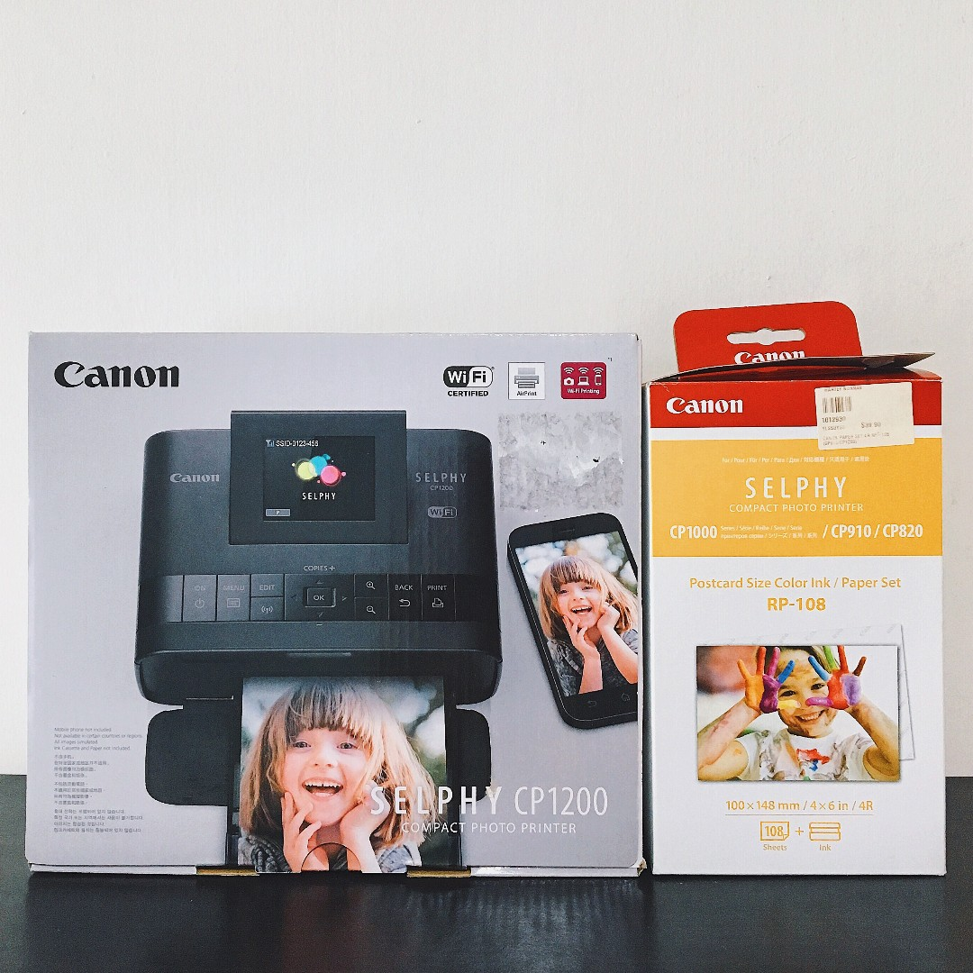 Canon Selphy Cp1200 Compact Photo Printer Electronics Others On Cp1000 White Carousell