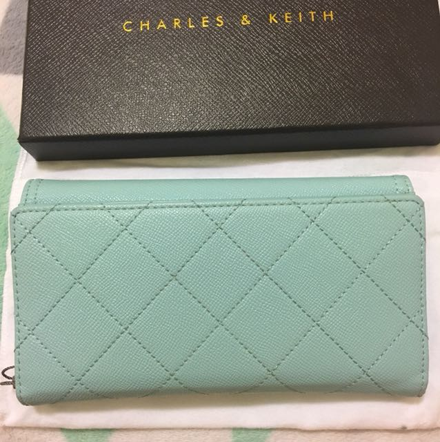 Charles & Keith Pastel Blue Wallet