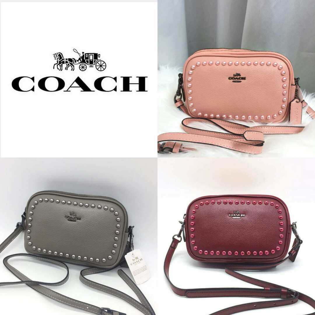 91d4fd18a53e Coach Women s Design Pearl Sling Crossbody Bag