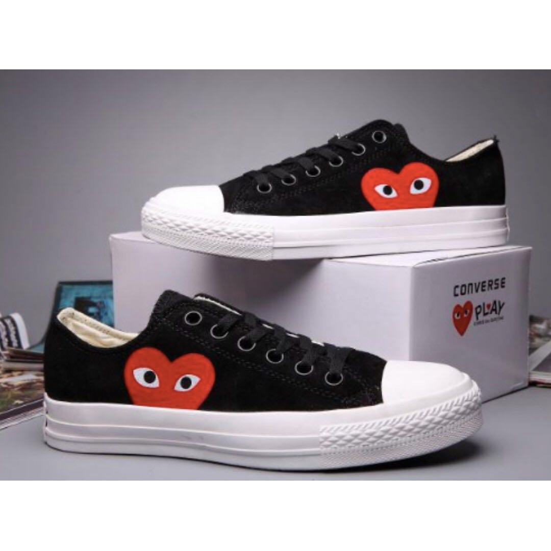 Converse Comme Des Garcons Suede Chuck Taylor All Star  Black White ... 044dd7676
