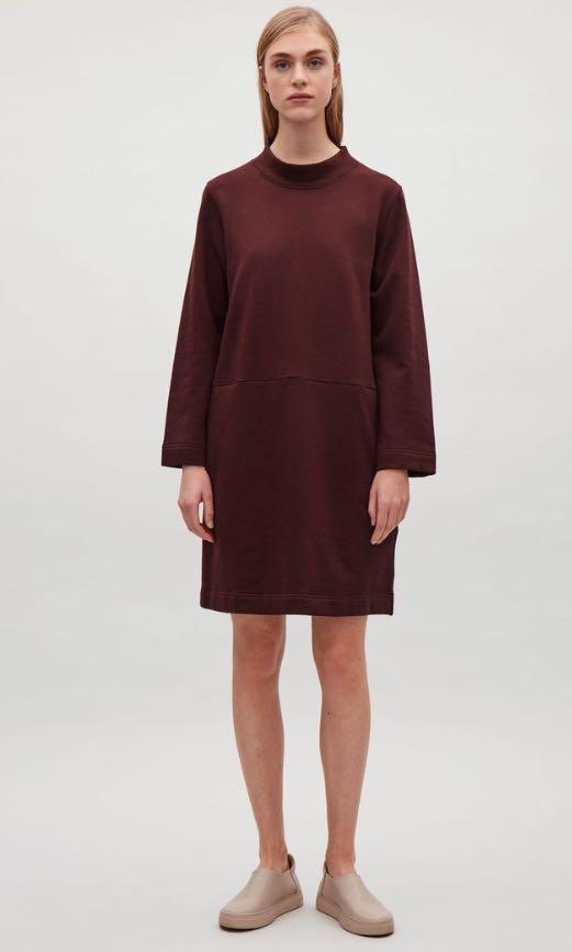 a12988531a COS maroon leisure dress