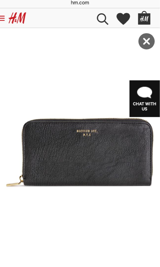 divided by h m black leather wallet preloved women s fashion bags