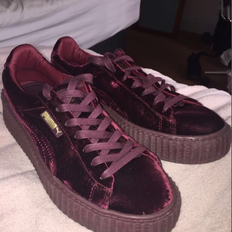 super popular 959b5 c35ca fenty velvet puma creepers, Women's Fashion, Shoes on Carousell