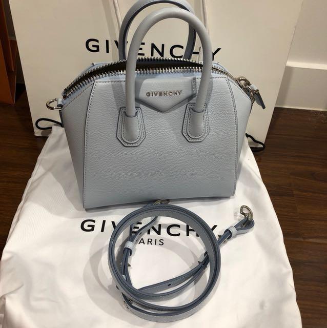 07d38c0357 Givenchy mini antigona in baby blue