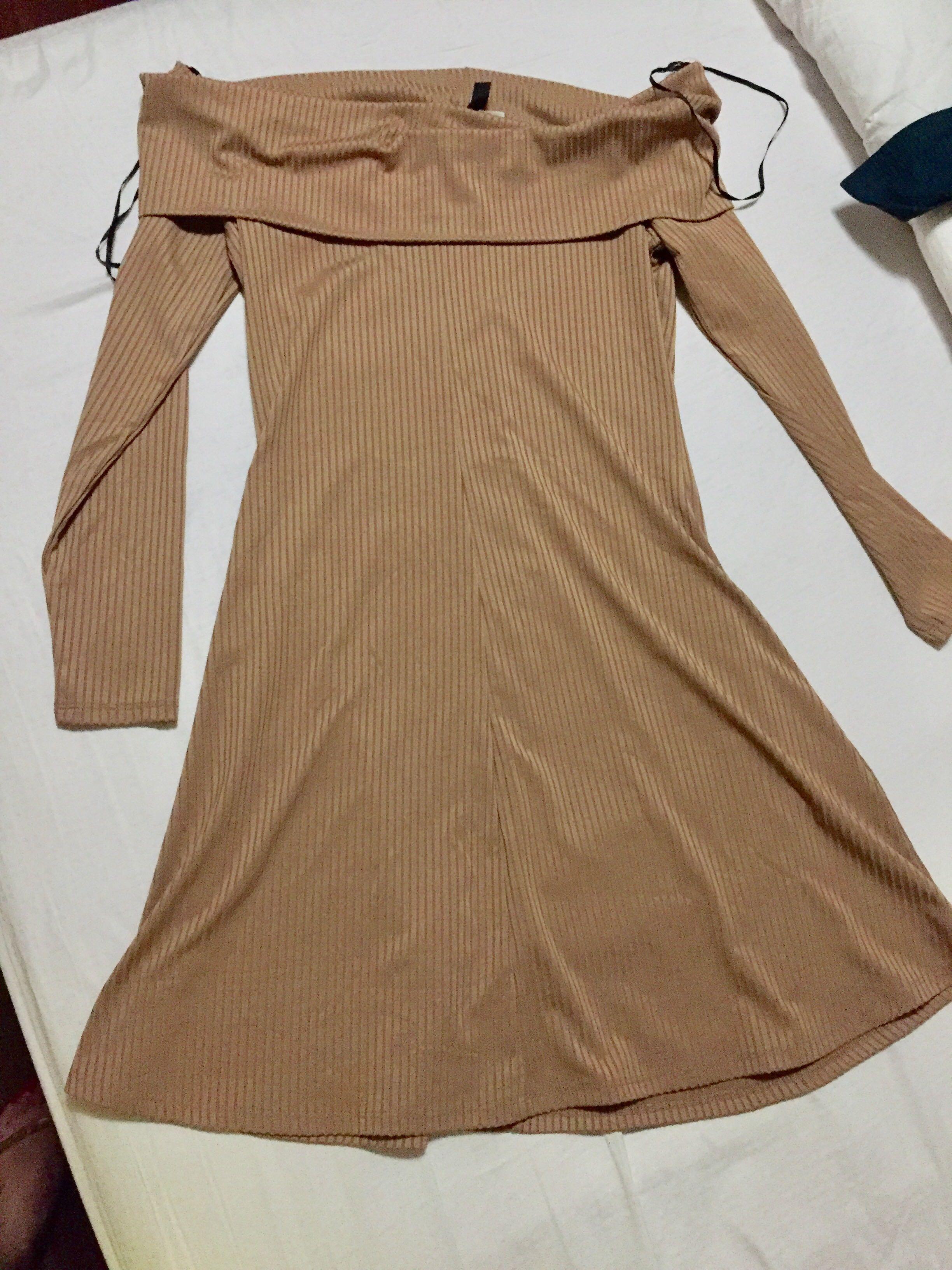 9a68f0cf6432 H M off shoulder dress