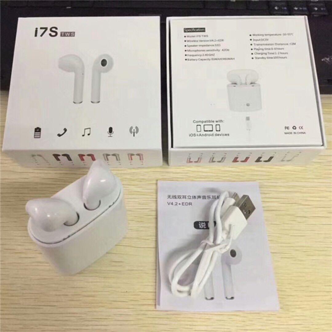 I7s Tws 雙耳真無線藍芽耳機連充電盒 Wireless Bluetooth Headphone V4 2